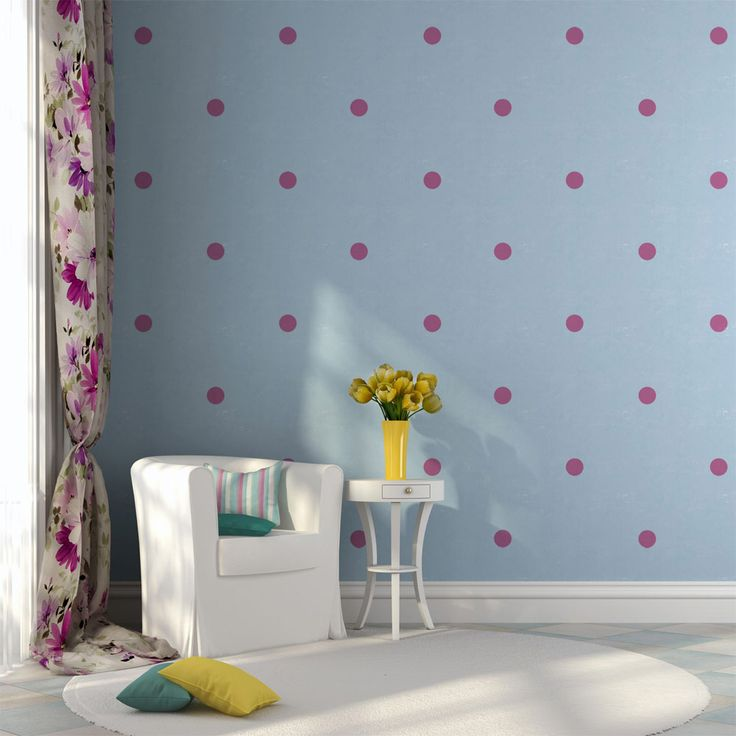 Pink polka dots look great spread out