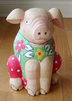 Wooden Mr Piggy (Made in Indonesia) Bought @ Home Sense (C$12.99)