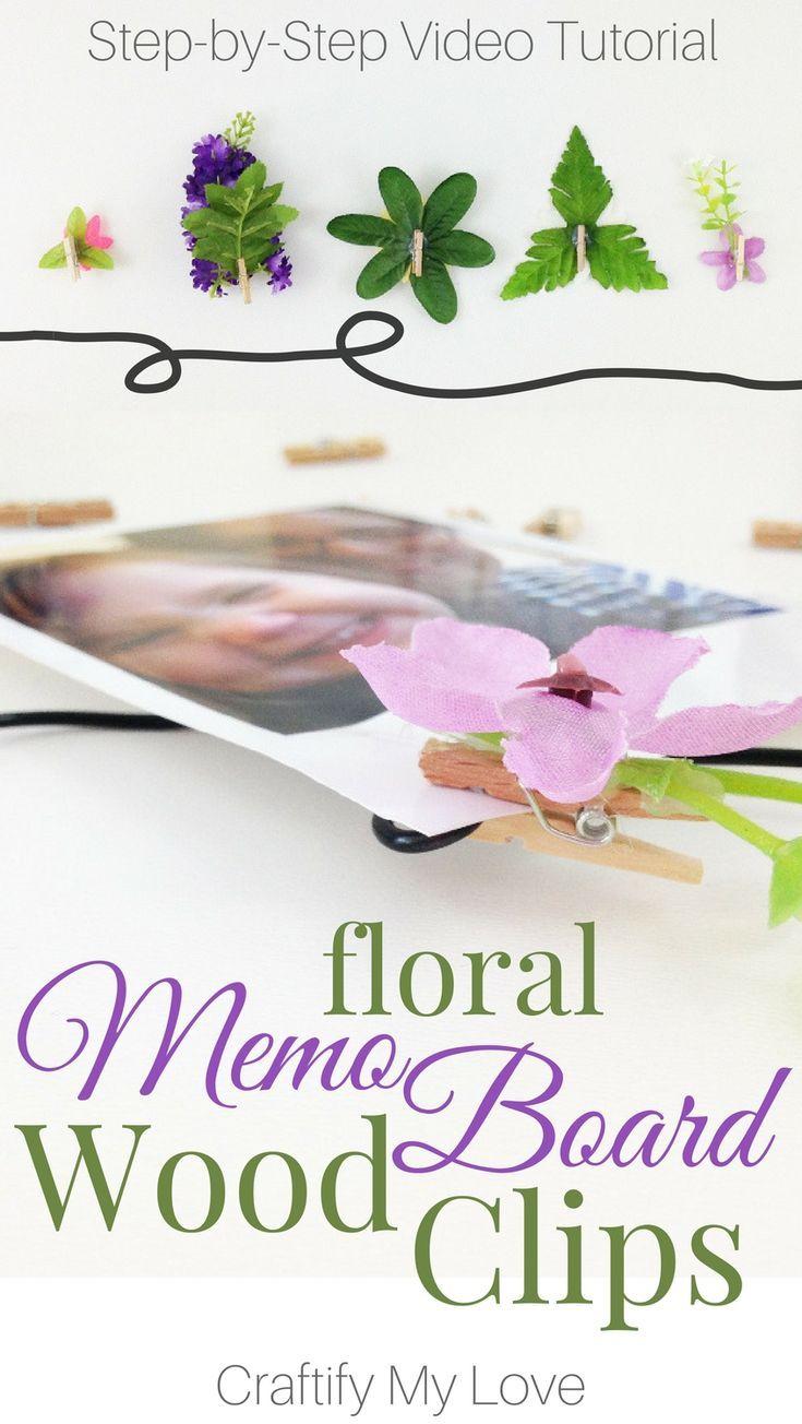 DIY dekorative Blütennägel für Memoboards, Bilderrahmen und vieles mehr…