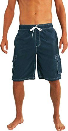 5db629e5b7 NORTY Mens Swim Trunks – Watershort Swimsuit – Cargo Pockets – Drawstring  Waist Review