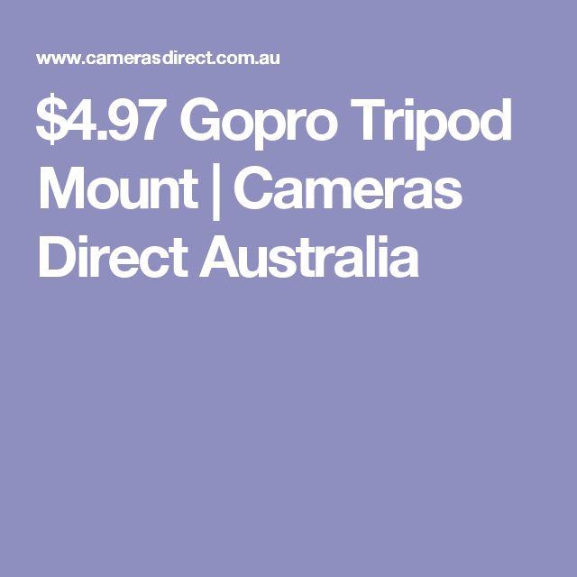 $4.97 Gopro Tripod Mount | Cameras Direct Australia