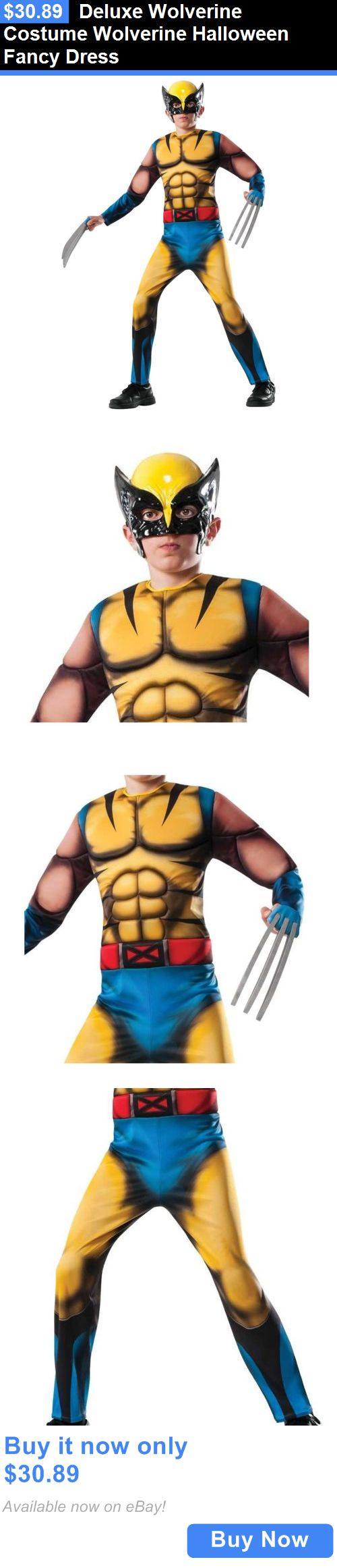 Halloween Costumes Kids: Deluxe Wolverine Costume Wolverine Halloween Fancy Dress BUY IT NOW ONLY: $30.89