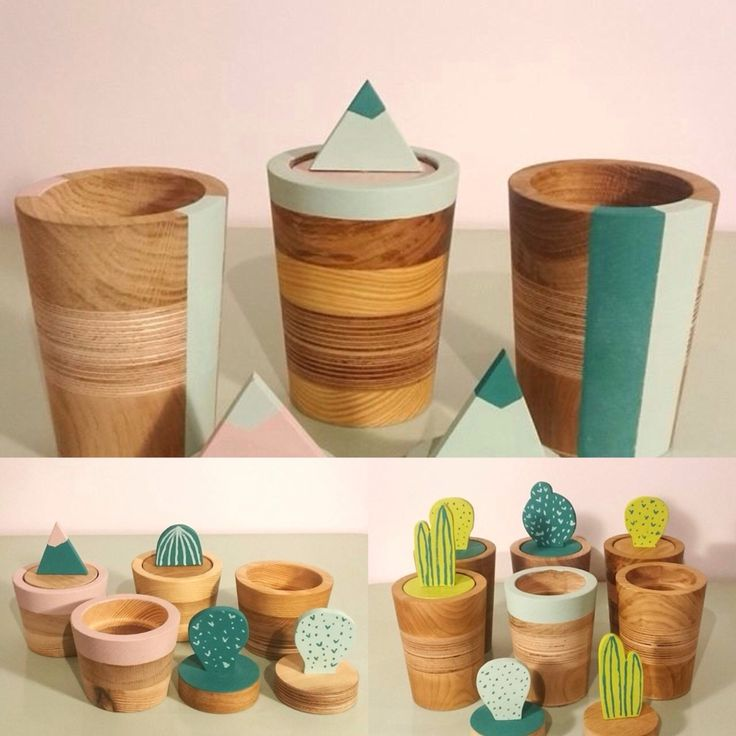 Eco containers. More on www.facebook.com/woodandpaperpl #woodandpaper #design #eco