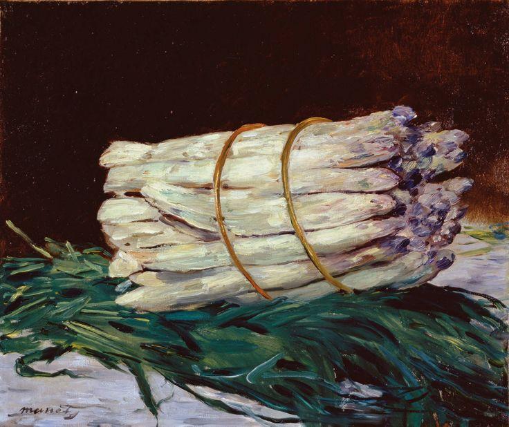 Édouard Manet (French, 1832-1883). Bunch of Asparagus, 1880. Oil on canvas. 46 x 55 cm (18 1/16 x 21 5/8 in.). Wallraf-Richartz-Museum & Fondation Corboud, Köln.1880, Bottes D Asperger, Wallraf Richartz Museums, Canvas, Asparagus, Edouard Manet, Bunch, Édouard Manet, Painting