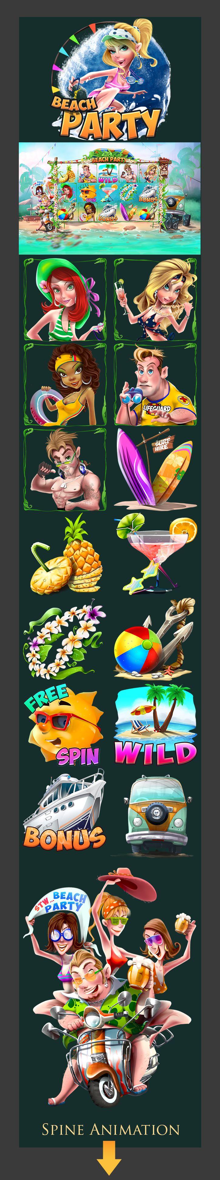 Slot machine_Casino _Beach-Party on Behance
