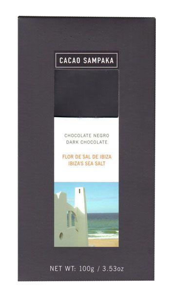 C Sampaka 100g. Ciocolata neagra cu flori de sare de Ibiza