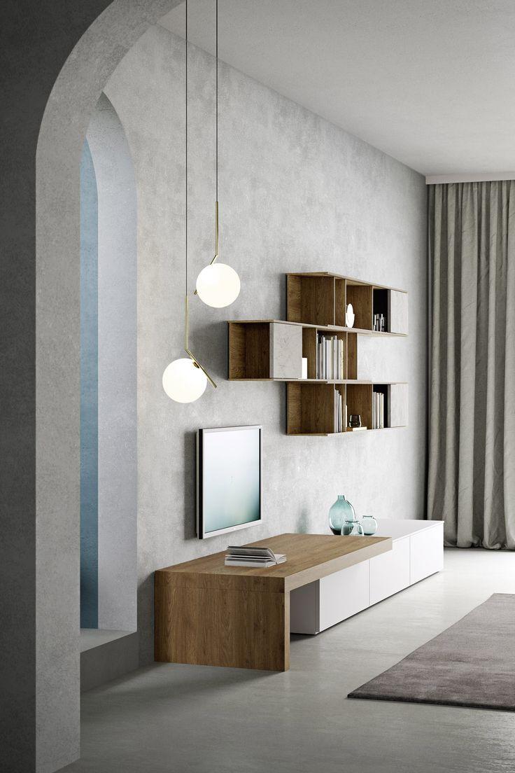 Die moderne tv wohnwand ist von novamobili aus italien modern tv tvwohnwand