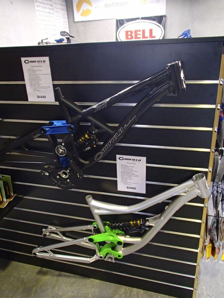 Canfield Bikes frames. That green is pretty awesome
