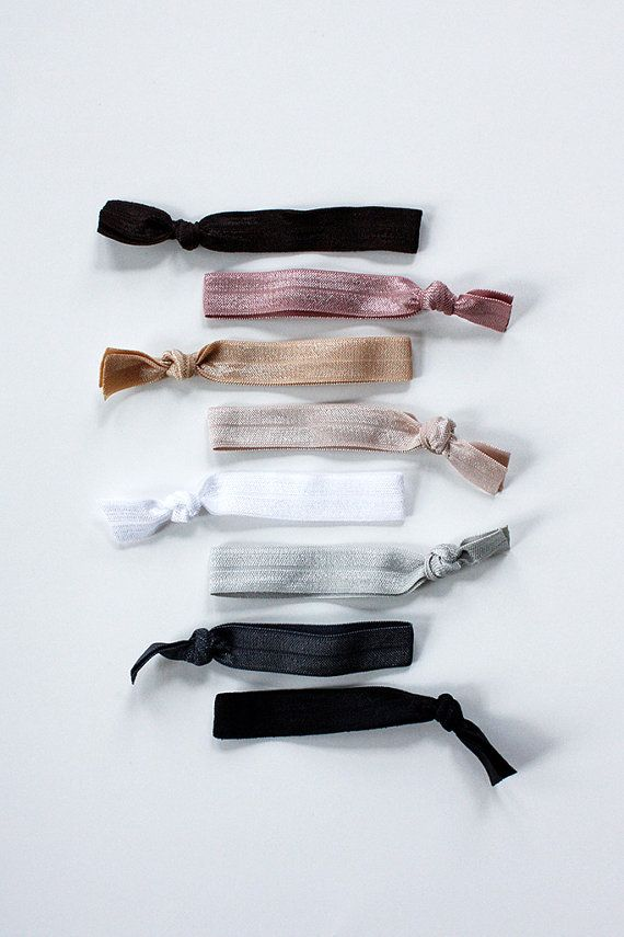 elastic hair ties -- neutral palette / etsy
