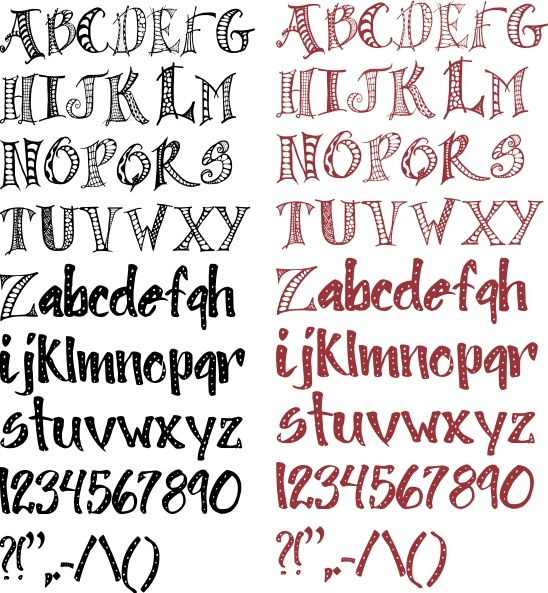 true type font made especially for word art and journaling!