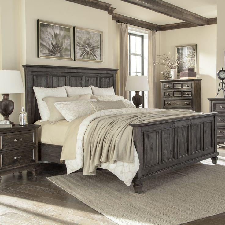 Best Carbon Loft Habersberger Grey Pine Panel Bed California 400 x 300