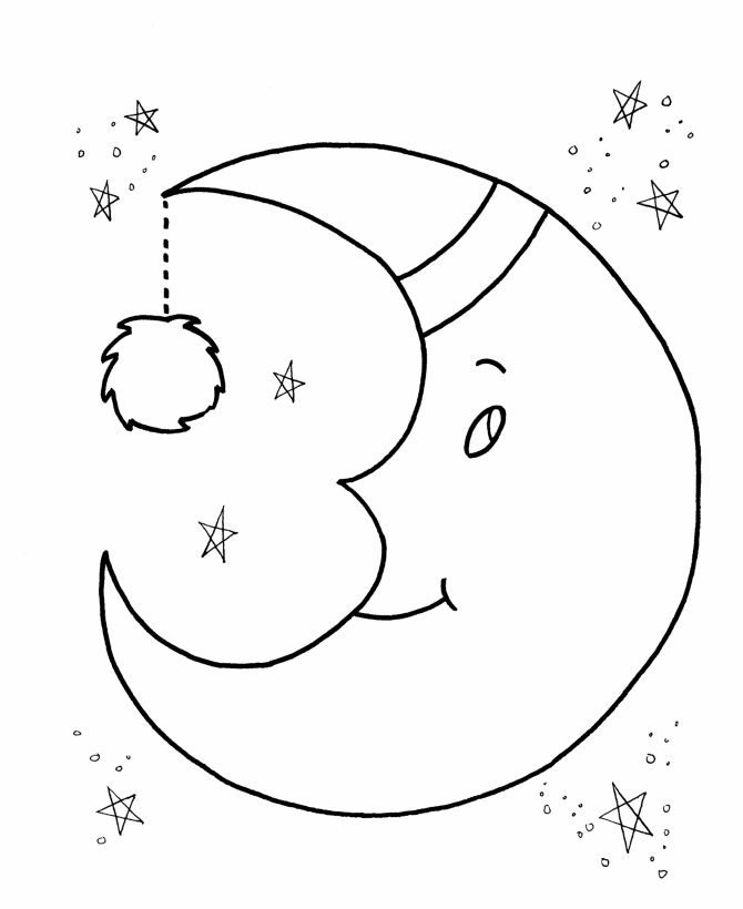 Image for Moon Coloring Page