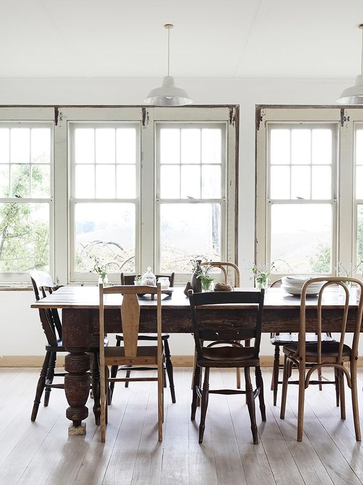 Pretty mis-matched chairs. Antique, not mass produced. 13 New Kitchen Trends And My feelings About Them