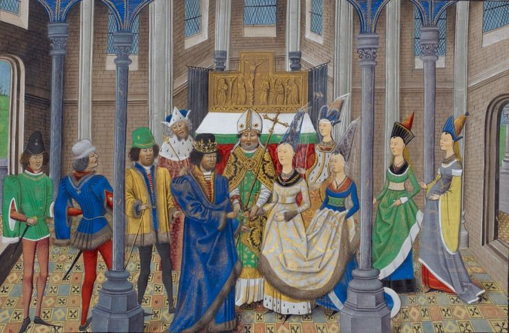 The marriage of King Joao of Portugal and Philippa of Lancaster.