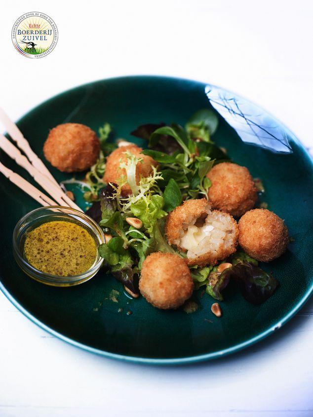 salade met gefrituurde risottoballetjes met Boerenkaas   ZTRDG magazine