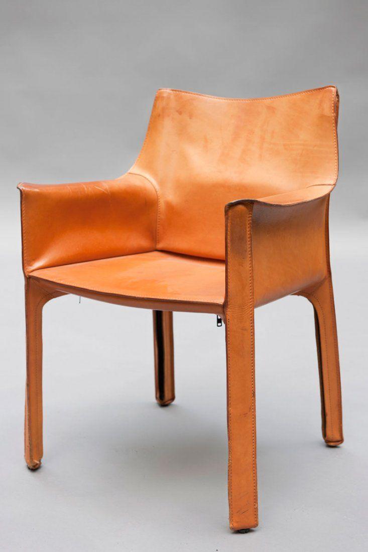 Mario Bellini 'Cab 413' chair struttura in metallo con rivestimento in pelle - #cassina #bellini #cab #chair #design