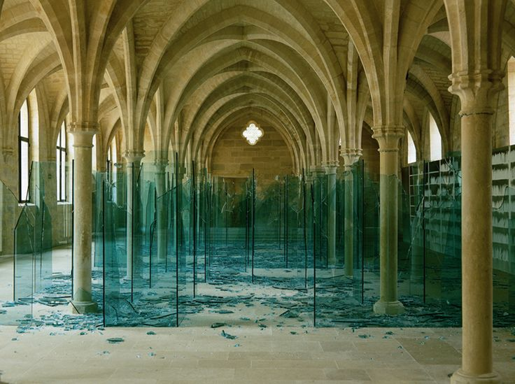 "Creative use of space and material. Bravo!   ""Sea of broken glass"" and ""Porto"" by Claudio Parmiggian"