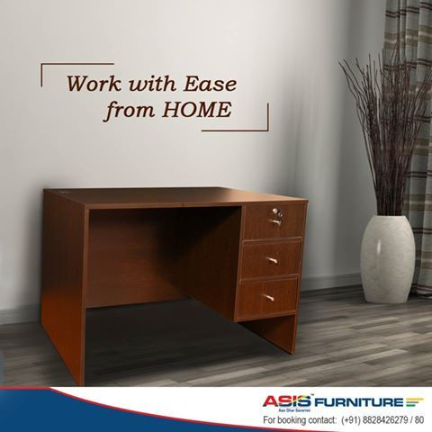 Does working at home feel like a task at times? Get the ASIS Boss office table and work with ease from home. http://bit.ly/20dNiLR
