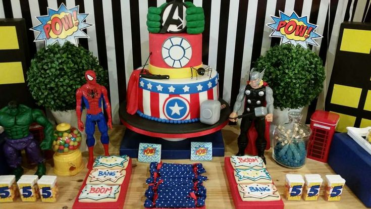 Superhero birthday party! See more party planning ideas at CatchMyParty.com!