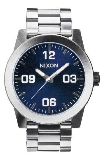 NIXON MEN'S NIXON 'THE CORPORAL' BRACELET WATCH, 48MM. #nixon #