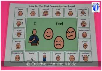 Autism How Do You Feel? Communication Board Visual PECS