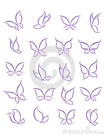Butterfly silhouette/outline to go with handwriting for Toki