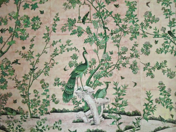 handpainted Chinese wallpaper via architect design™