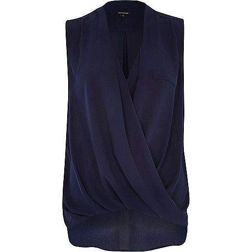 River Island navy blouse £26