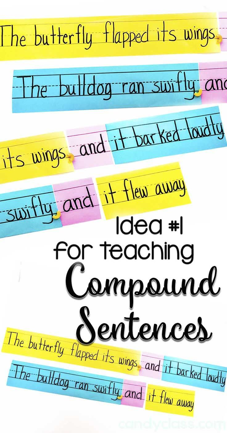 Find other ideas for teaching compound sentences, and a cute idea for introducing those fanboys. This is a cute learning activity for students to put together silly sentences.