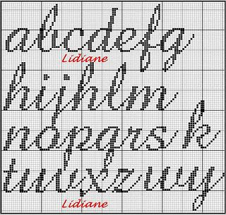 charted lower case manuscript font