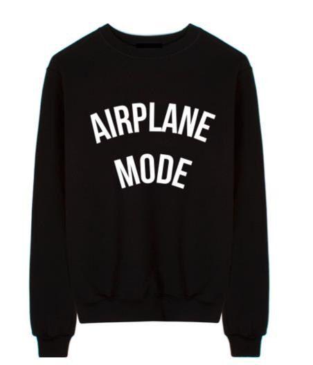 Airplane Mode Black Custom Sweatshirt FREE by AthleisureCo on Etsy