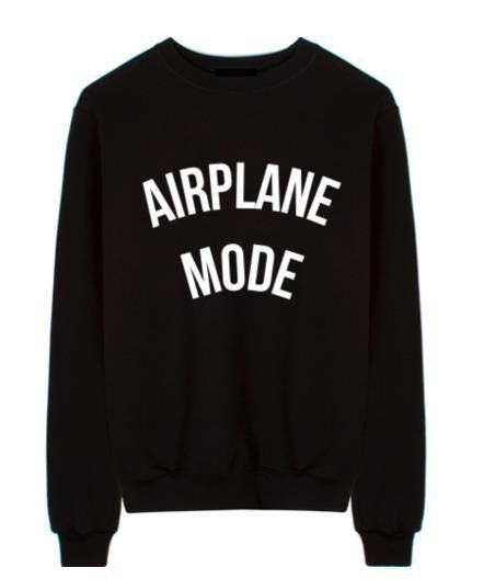 Airplane Mode Black Custom Sweatshirt FREE by AthleisureCo on Etsy
