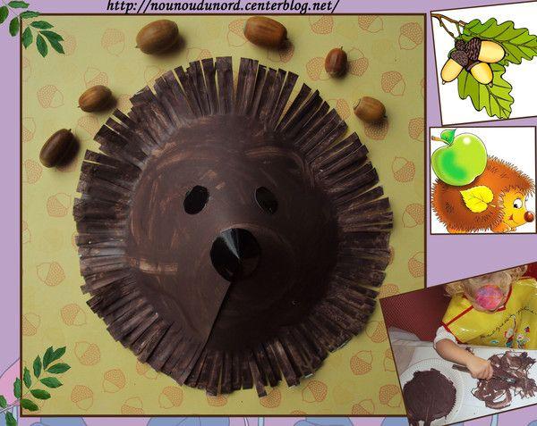 Un hérisson réalisé avec une assiette en carton