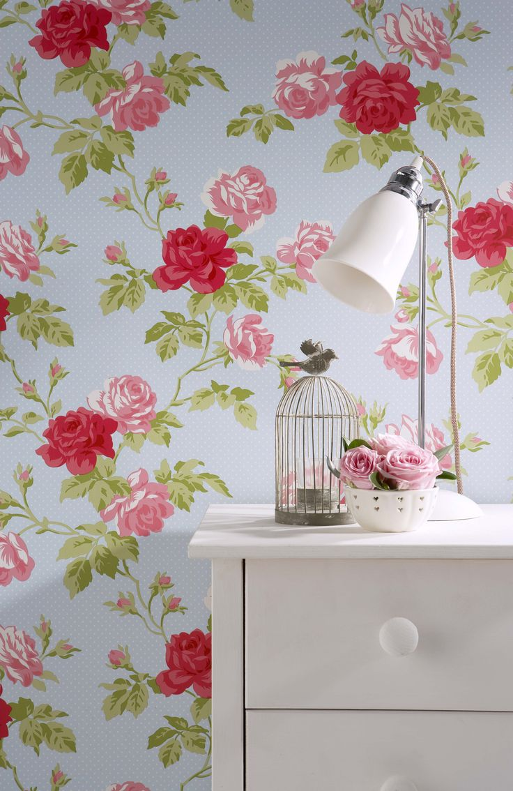 Whitewell Interiors Wallpaper Floral Bouquet 550432