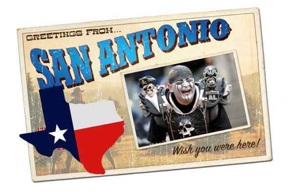 Are the Raiders moving to San Antonio? Skulls, spikes and cowboy hats…this could be magical. Read more about why the Raiders owner is scoping out Texas at Girlslovethegame.com #NFL #news #football #gossip #Raiders #RaiderstoSA