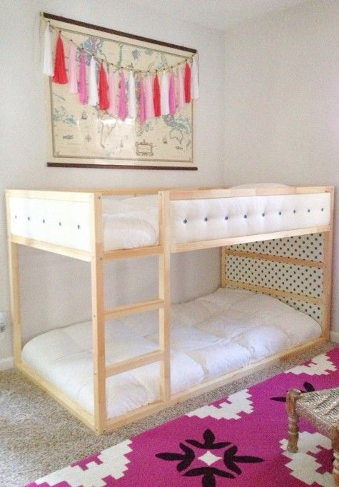 "13 Amazing ""KURA"" Bed Hacks for Toddlers: Upholstered Finish"