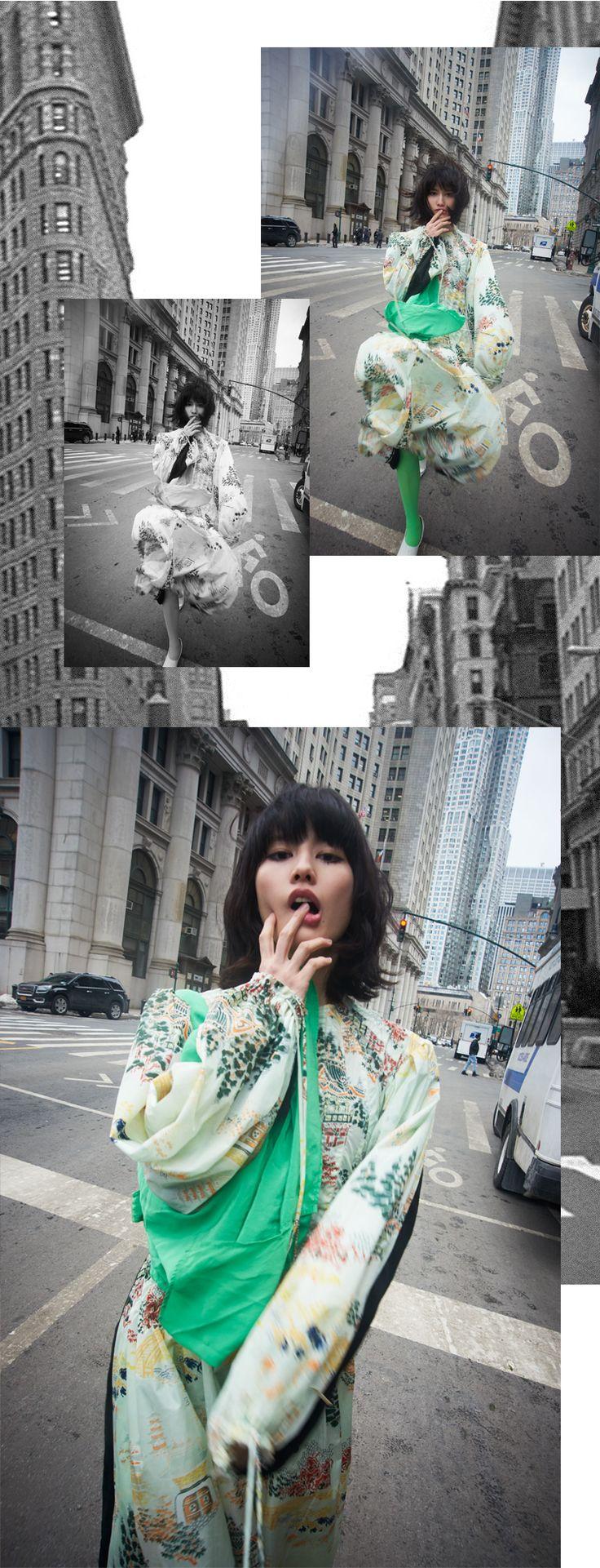 いつの時代も世界のアーティストを惹きつけてやまない街、ニューヨーク。より自由に、解放的に。そんな今のムードを捉え、フリースピリット溢れる最新モードを新進気鋭の女優・橋本愛が謳歌する。