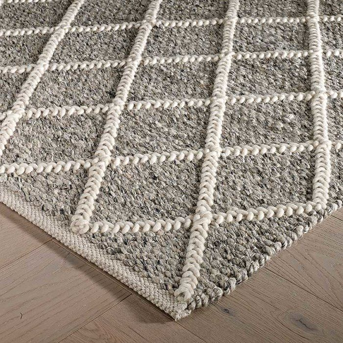 Unionville Handwoven Wool Grey Rug