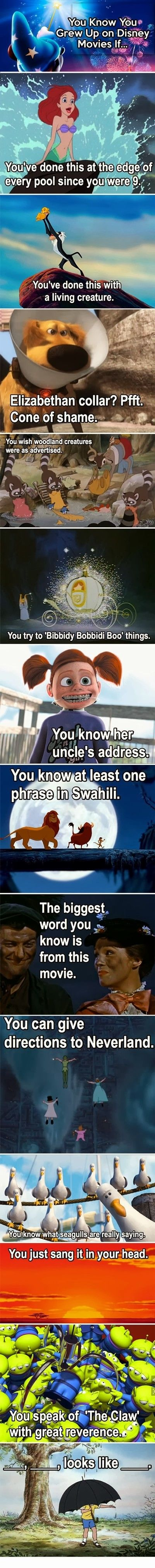 you know you grew up on Disney movies if.... | See more about disney movies, disney and movies.