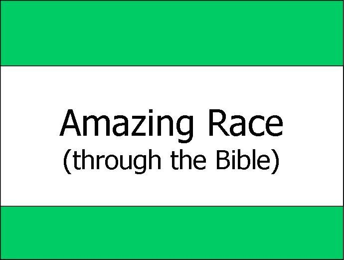 """This idea is taken from the show """"The Amazing Race."""" Split the kids into teams of 2-4 depending on how big the group is, and give each team only one Bible one pen and one question sheet. Each team must race through the Bible looking for answers to the Bible trivia question on the question sheet. After they have completed the sheet (correctly) they must then go to the """"Detour."""" A detour is a task that one team member must do to get the second set of questions. ..."""