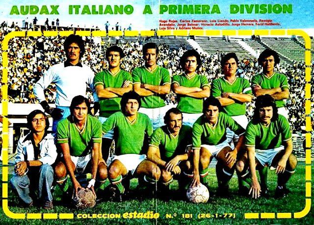 EQUIPOS DE FÚTBOL: AUDAX ITALIANO en la temporada 1976-77
