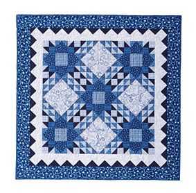 Free Quilt Pattern: Blue Persuasion Table Topper