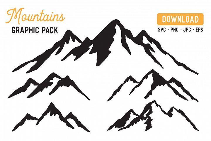 Mountain Vector Svg Bundle Mountain Graphic Bundle 363339 Illustrations Design Bundles Svg Graphic Free Graphic Design