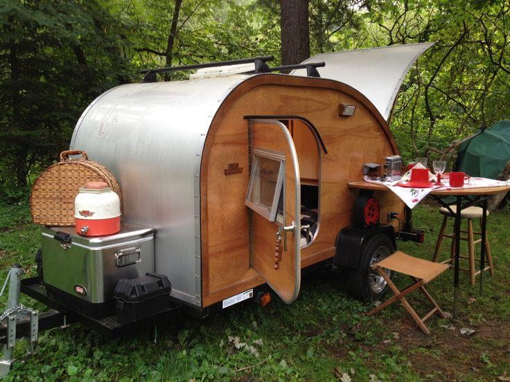 tiny teardrop camper woody - Google Search