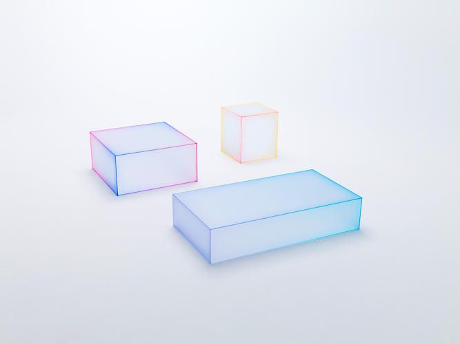 Nendo's New Glass Tables Bring A Little Bit Of Miami Vice To Your Living Room | Co.Design | business + design