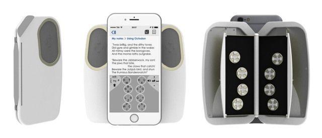 指10本で表裏のキーを駆使して高速入力するスマホ用キーボード「OCTODON」 - CNET Japan