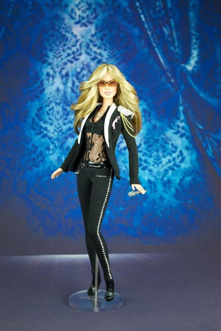 """Barbie Loves Anastacia at the """"Resurrection Tour"""" 2014 MADE IN ITALY This doll was personally donated to Anastacia"""