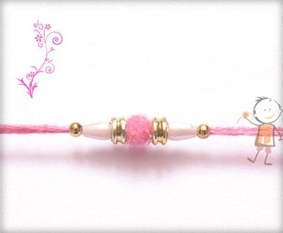 Online #Rakhi #Shopping 2015:- Buy Rakhi, #Velvet #Rakhi Delivery In #India #USA #UK #Australia #Canada #Dubai #Singapore #NZ Simple Pink Velvet Rakhi, surprise your loved ones with roli chawal, chocolates and a greeting card as it is also a part of our package and that too without any extra charges.  http://www.bablarakhi.com/send-designer-rakhi-online/1119-send-simple-pink-velvet-rakhi-online.html