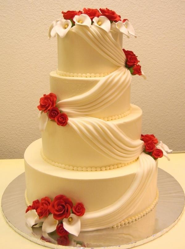 Decoración de torta para el día del amor