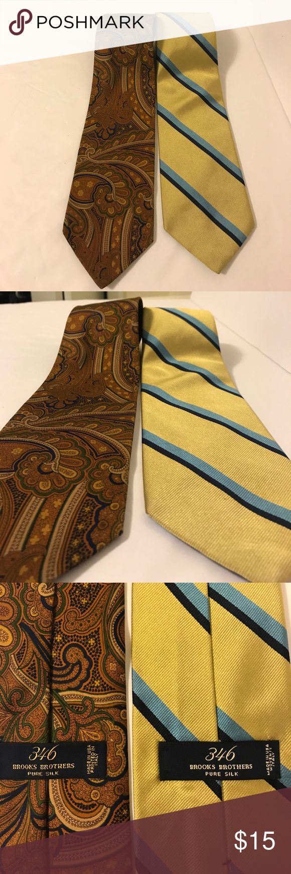 🔥 2 brooks brothers ties! Made in Italy pure silk 2 brooks brother ties! Made in Italy, pure silk! This is a killer deal Brooks Brothers Accessories Ties